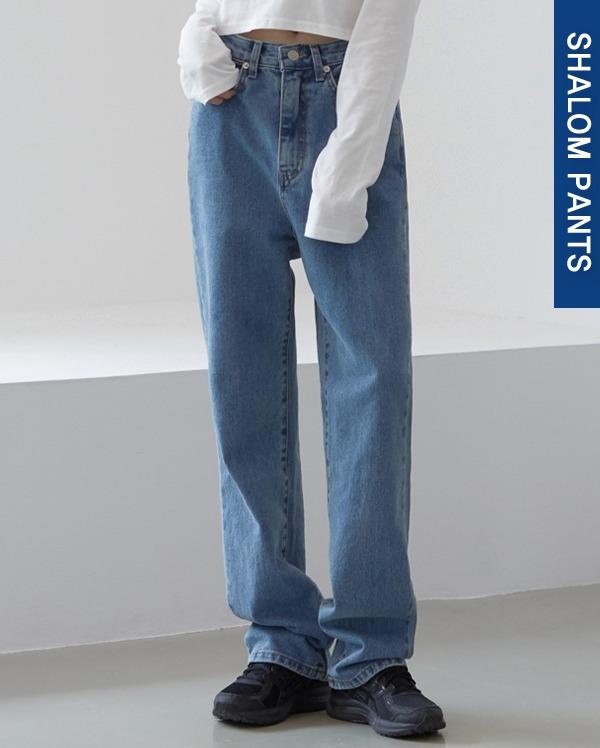 112_blue long denim pants (s, m, l)