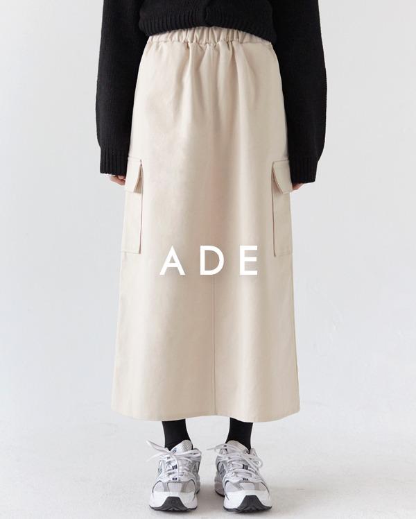 even cargo midi skirt