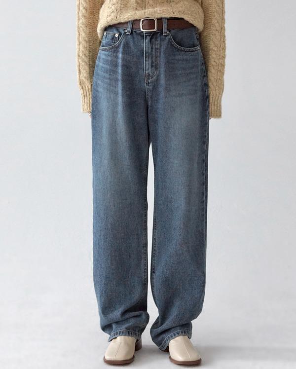 lowell straight long denim pants (s, m, l)