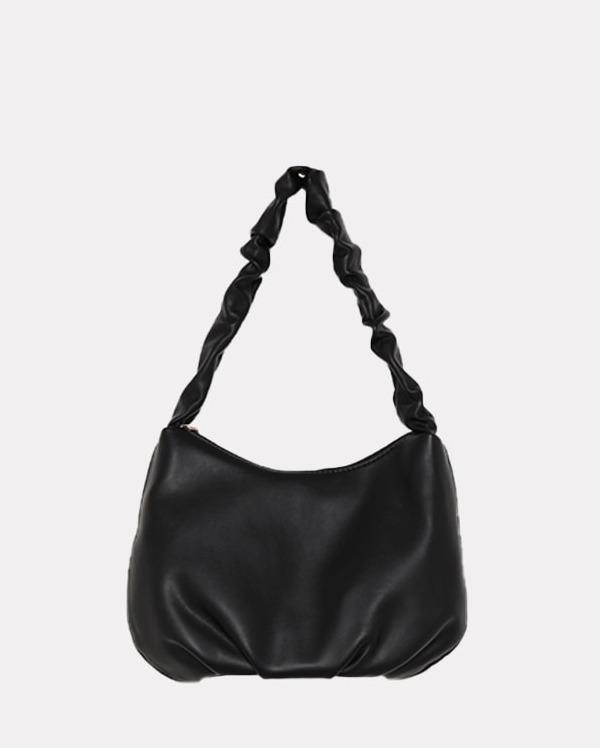 strap shirring shoulder bag