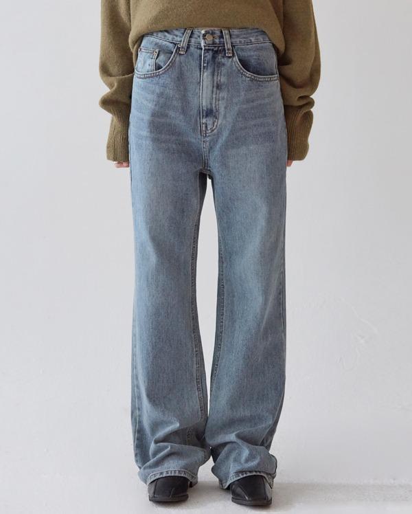 ray washing wide denim pants (s, m, l)