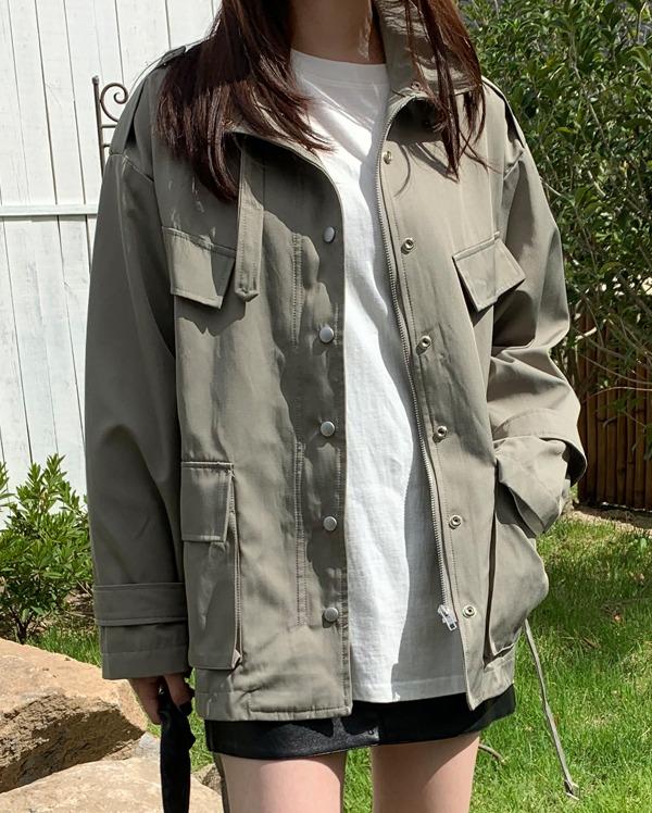 belt snap jacket