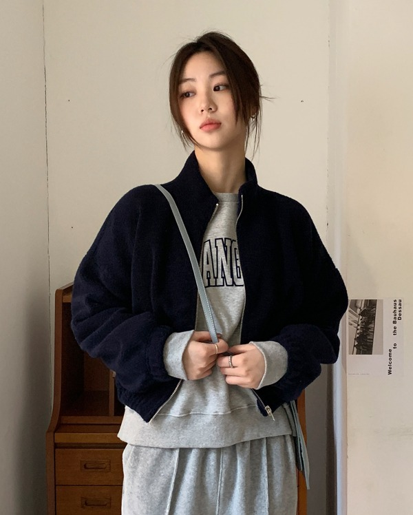 soft dumble zip-up jumper