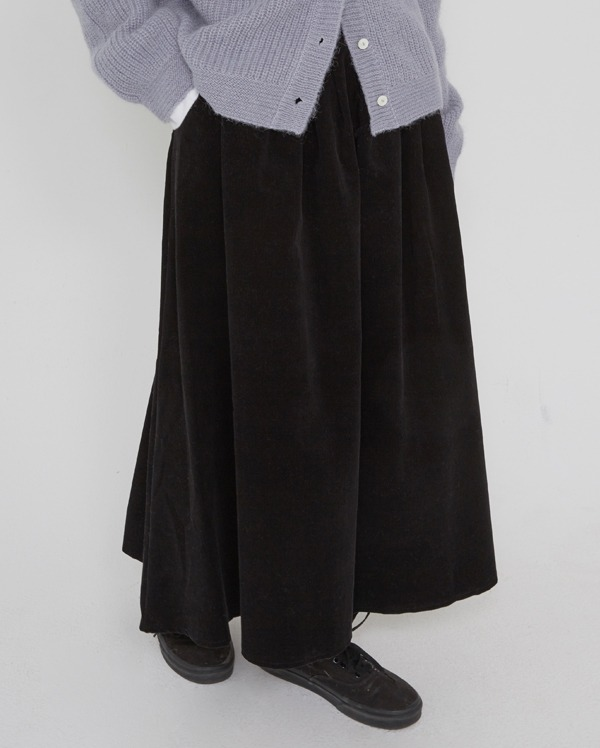 thick corduroy long skirt