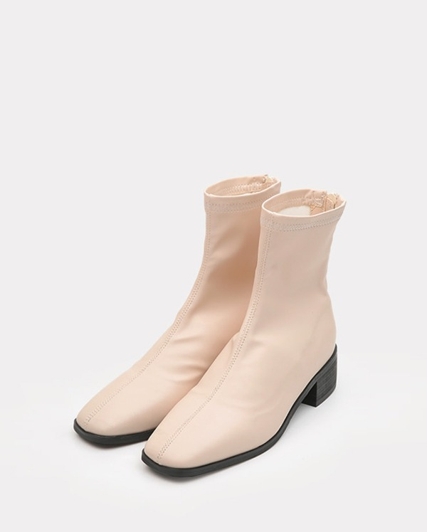 slim square toe ankle boots (225-250)