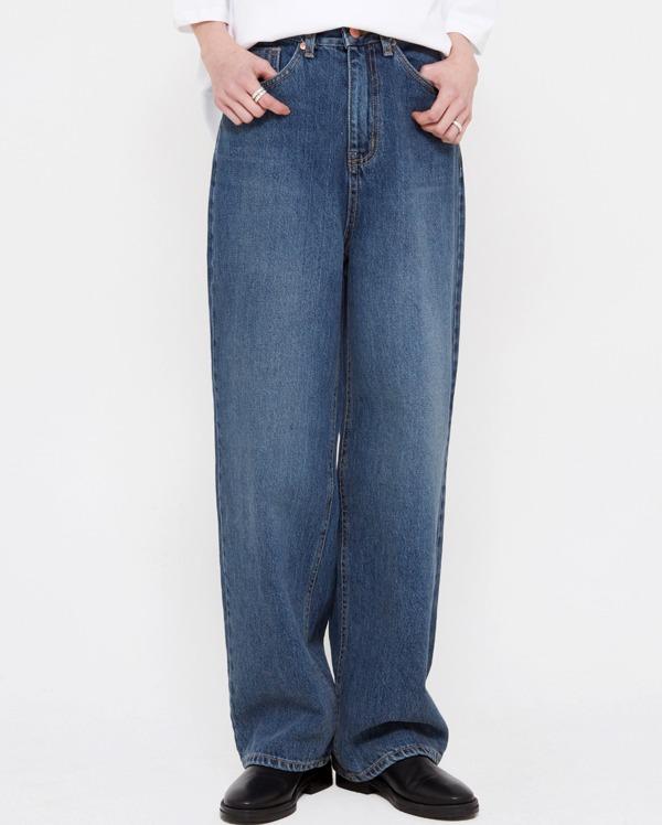 ston deep denim pants (s, m, l)