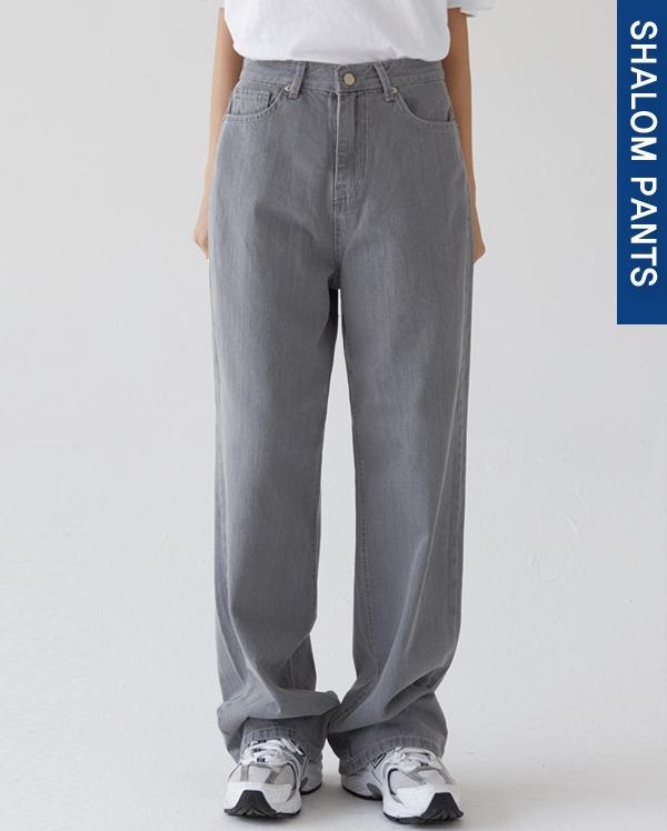 202_high waist gray wide pants (s, m, l)