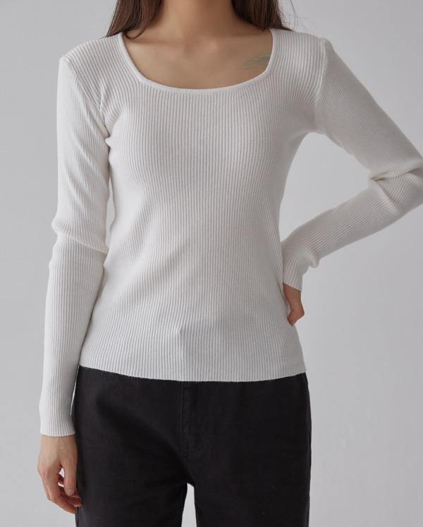 tension square neck knit