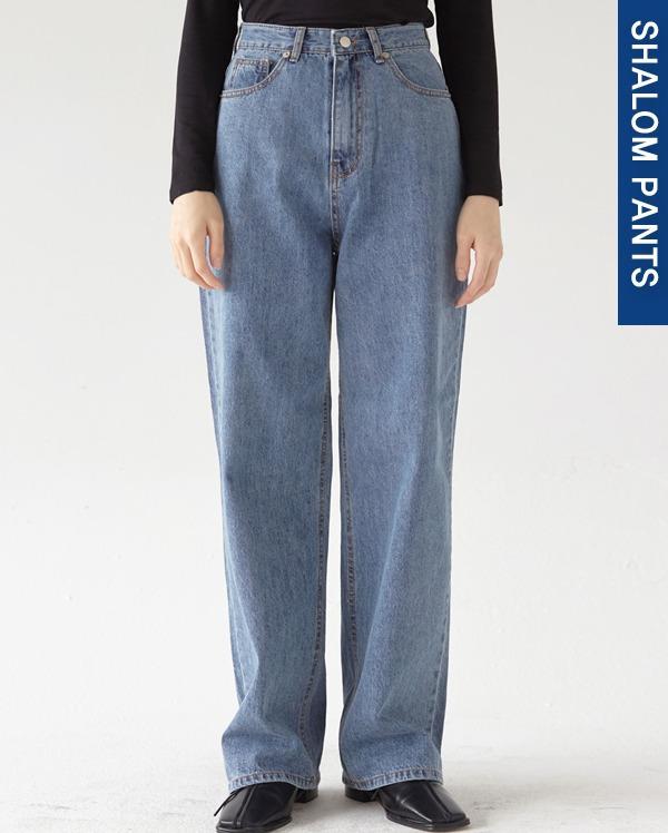 202_high waist blue wide pants (s, m, l)