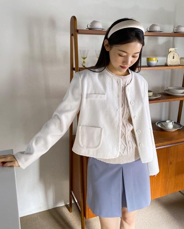 vivo tweed cream jacket