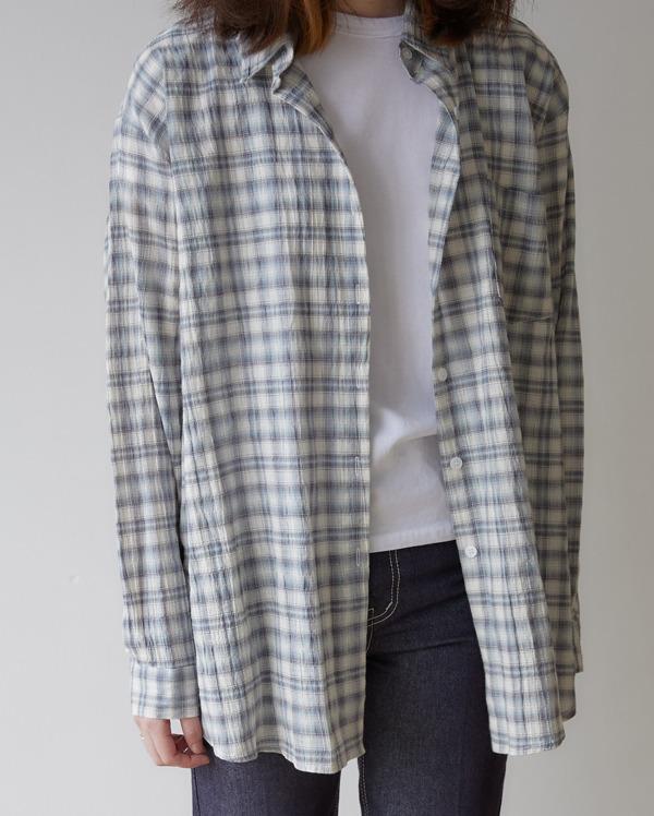 bellum over-fit check shirt