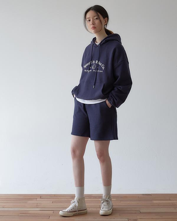 sporty banding half pants