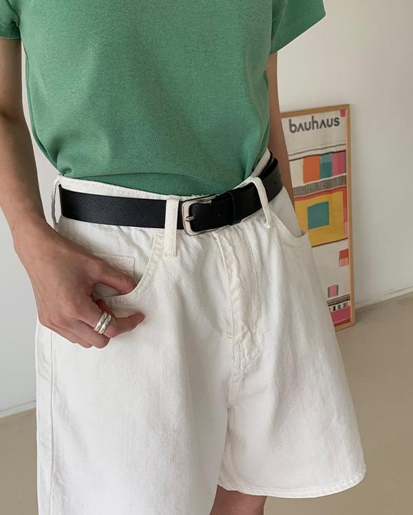 벨로우 레더 벨트 (2color)