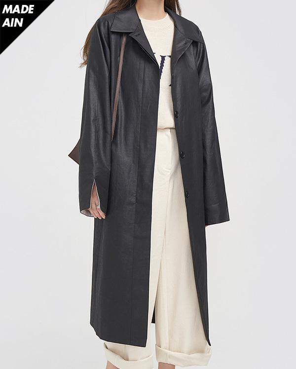 FRESH A single trench coat ( BLACK )