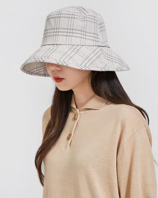 softy check bucket hat
