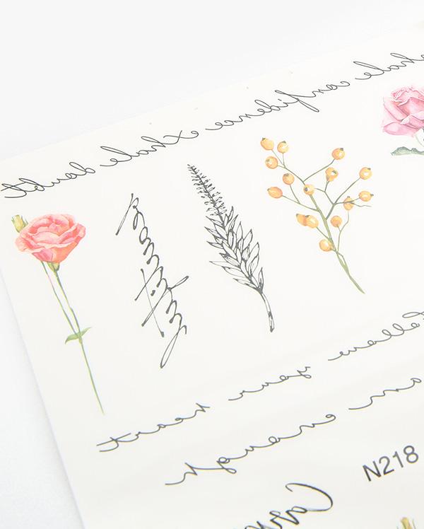 flower tattoo sticker