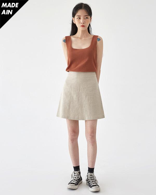 FRESH A soap linen skirt