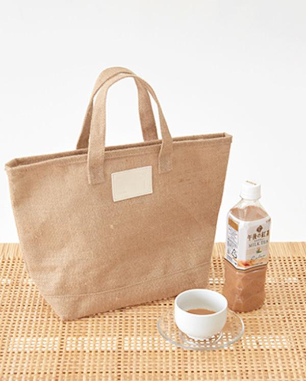 linen picnic tote bag