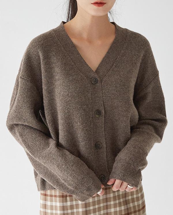 footy v-neck wool cardigan