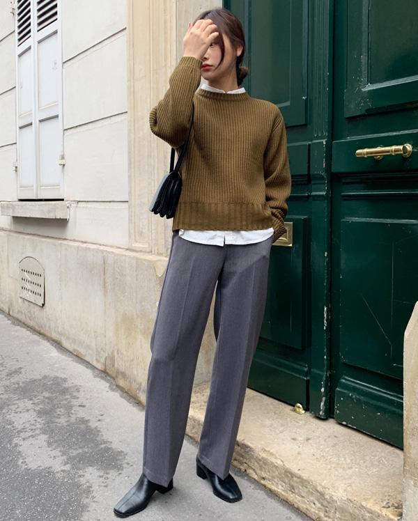 fall crop round knit