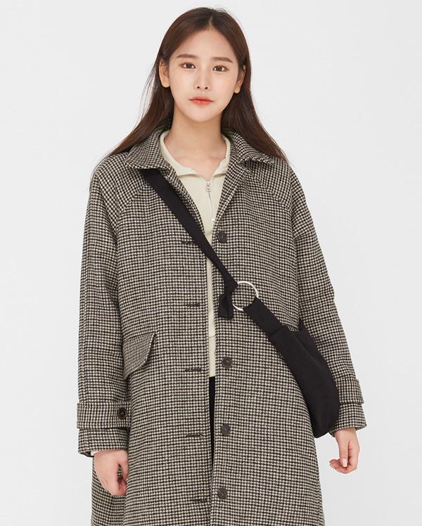 bonita check napping wool coat