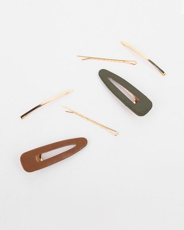 wood color hair pin