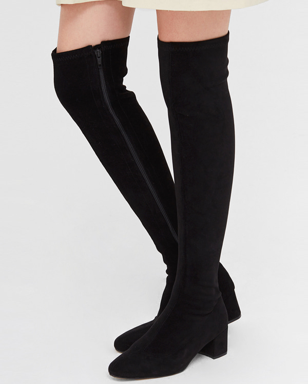 thigh high socks suede boots (225-250)