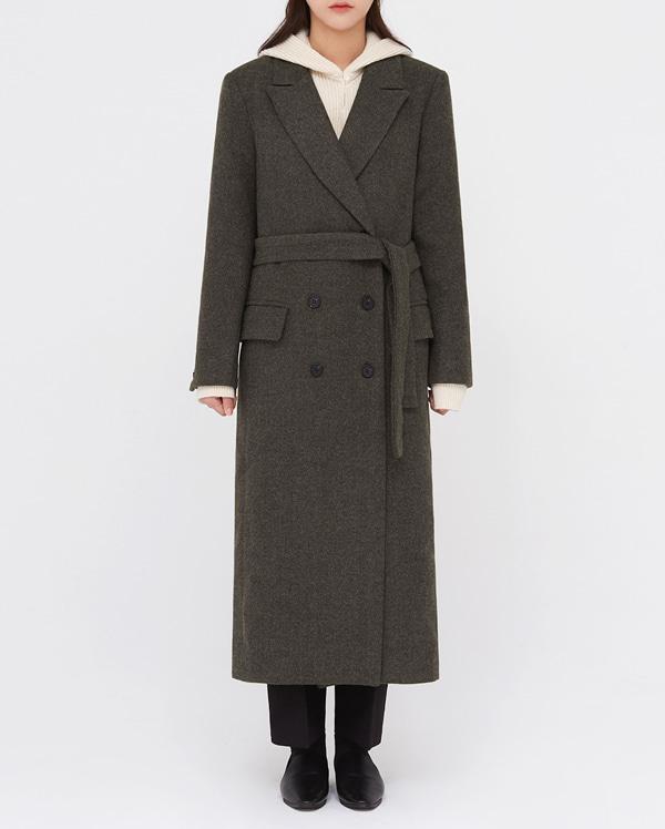 some double belt long coat