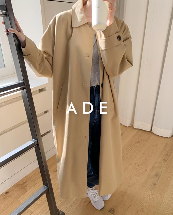 cotton single long coat