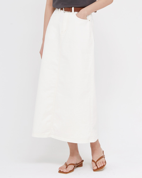 your cotton long skirt (s, m)