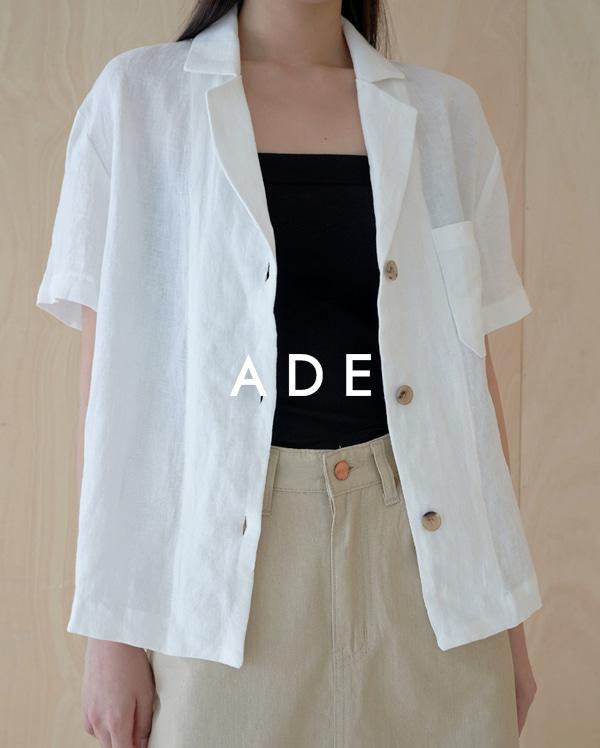 3-button linen jacket