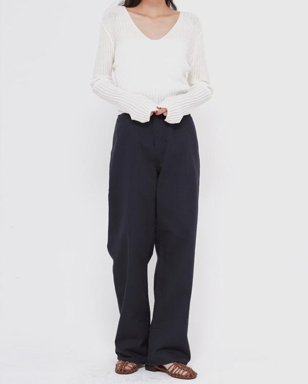 clip cotton wide pants (s, m, l)