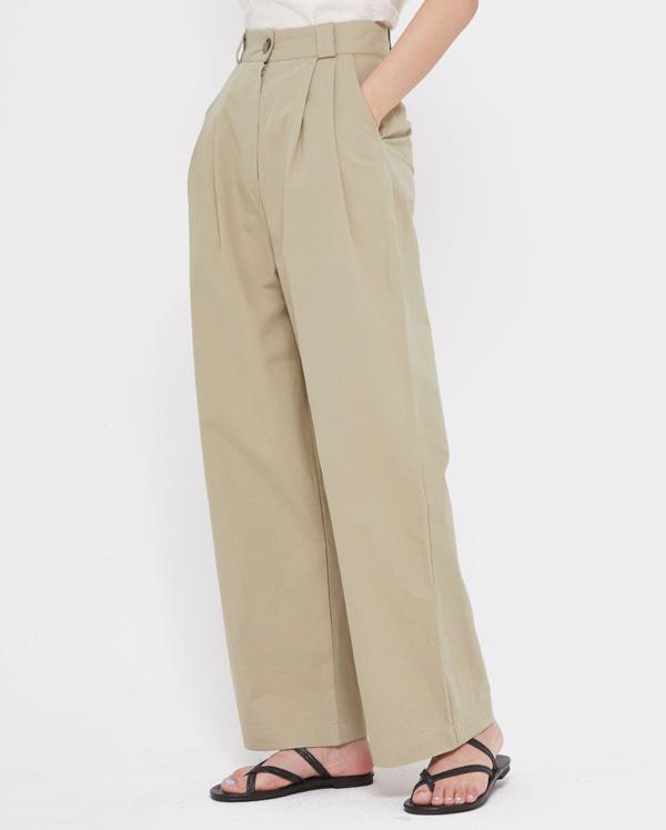 off wide cotton pants (s, m)
