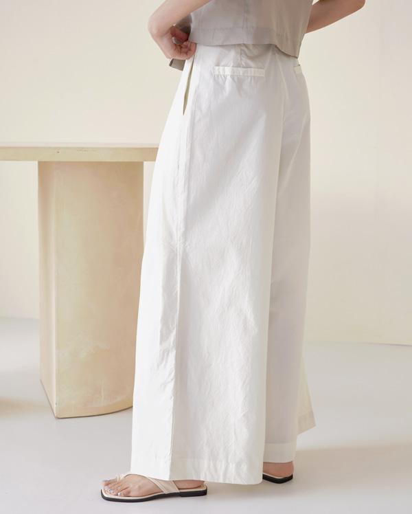 wrap wide cotton pants (s, m)