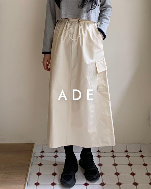 string pocket long skirt