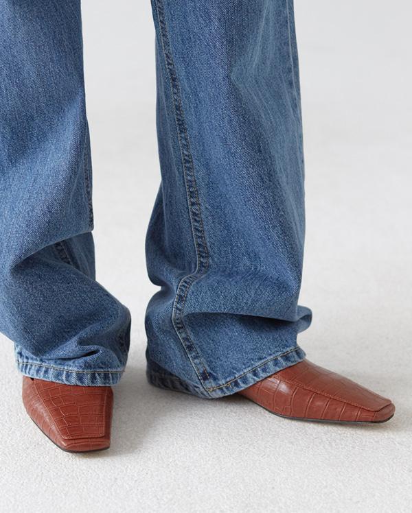 square toe line bloafer (230-250)