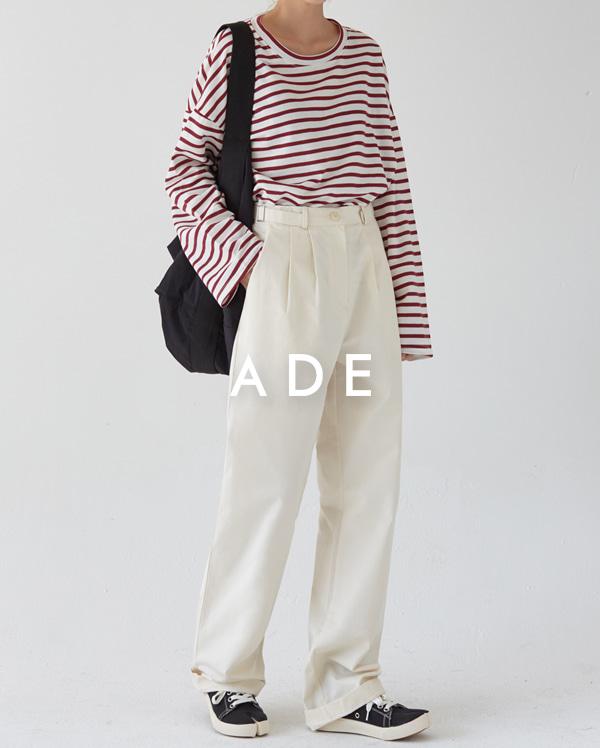 side detail wide pants (s, m)