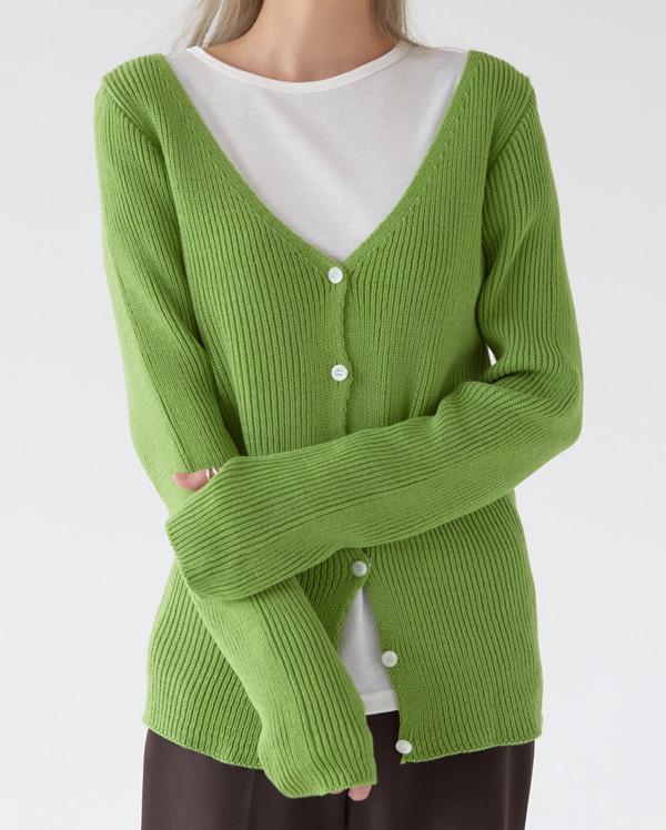 color ring warm cardigan