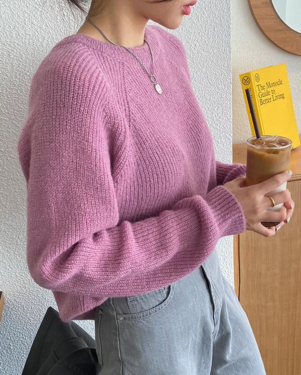 raglan flat knit