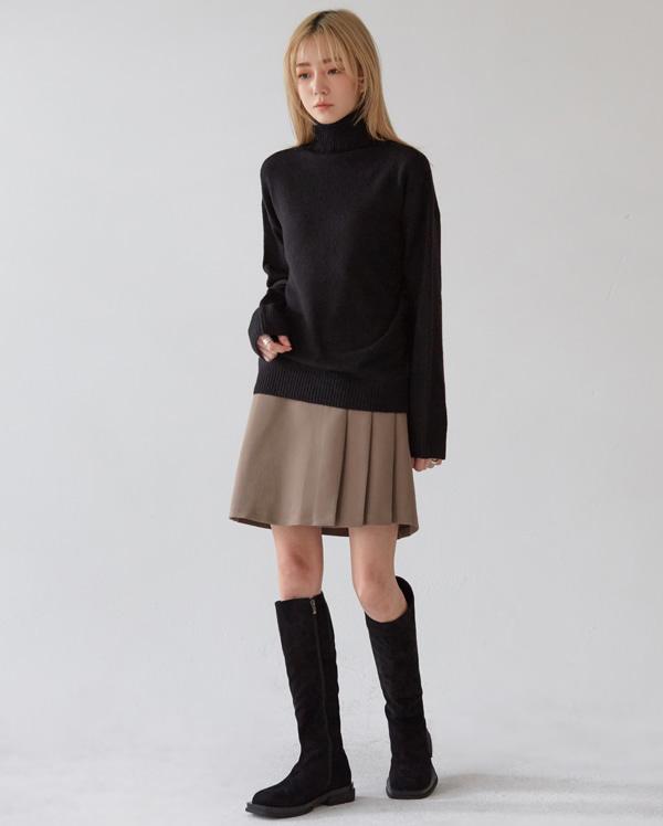 serre a line slit mini skirt