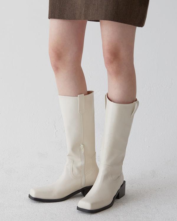 venka square ankle long boots (225-250)