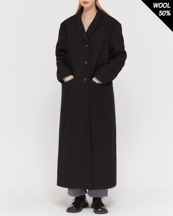 wool mixed long coat