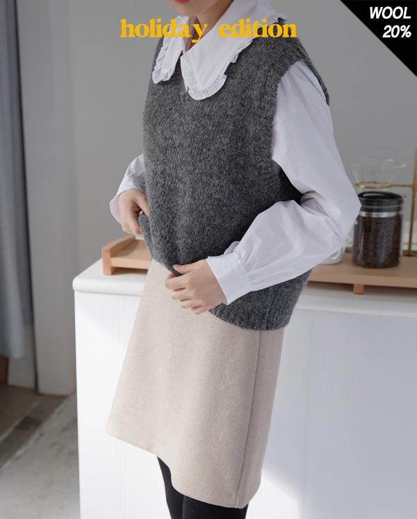 more brush alpaca vest
