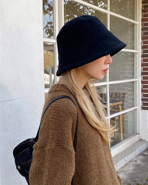 basic knit bucket hat