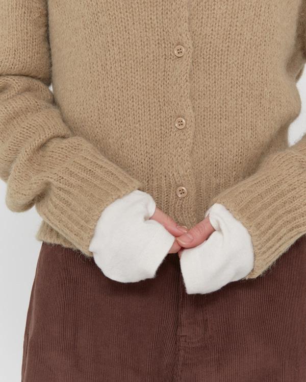 ivy wool v-neck cardigan