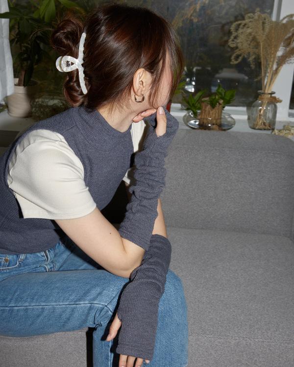 weather knit arm warmer