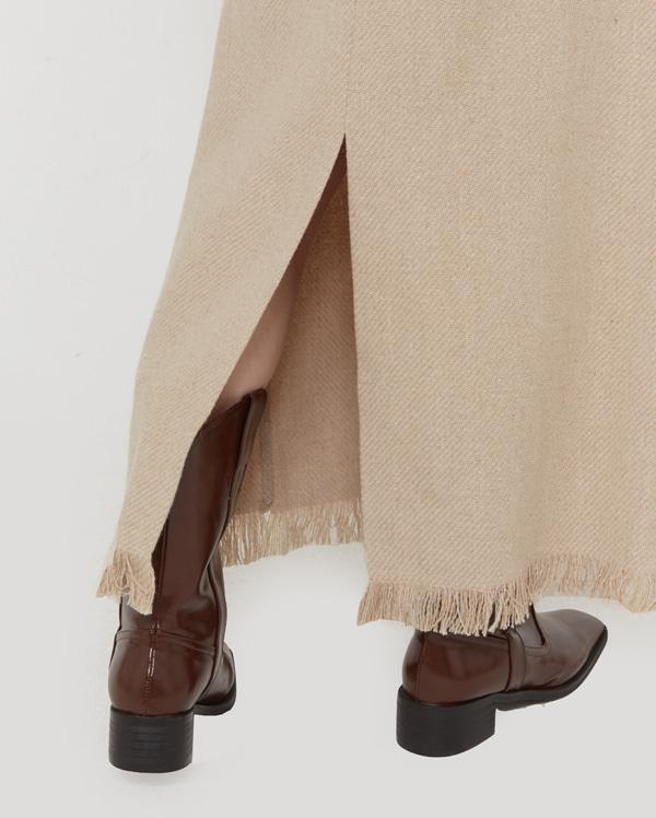 in fringe maxi long skirts (s, m)