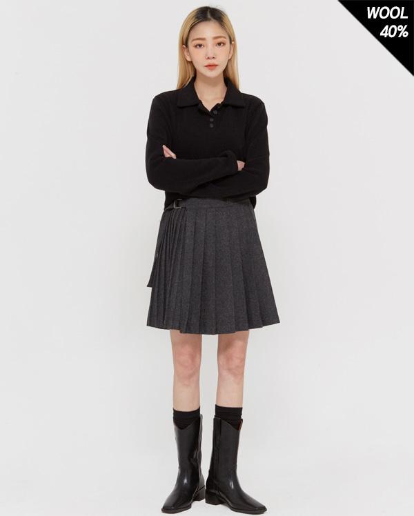 in edge pleats mini skirts