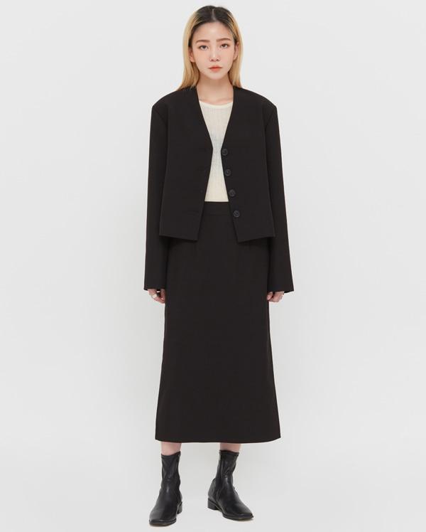 mode v-neck jacket