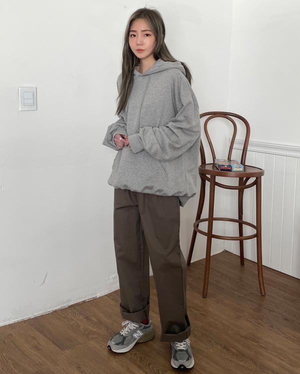 tain buckle pintuck pants (s, m)